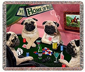 Pugs playing poker vibrator poker machine