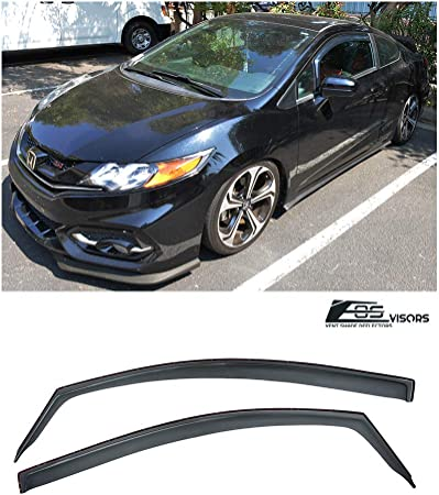For 2012-2015 Honda Civic Sedan Out-channel Style Vent Window Visor Replacement