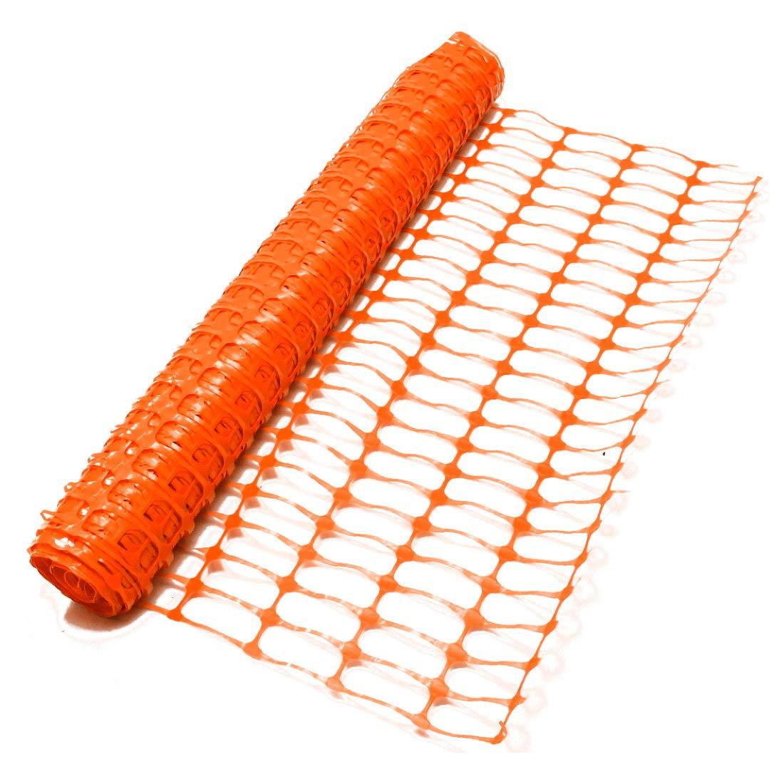 True Products B1003C 4kg 1m x 50m Standard Plastique en maille filet de sécurité Barrière Clôture Rouleau–Orange (1pièce) B1003C