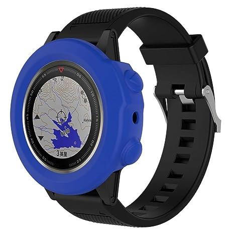 Fundas Garmin Fenix 5X Plus Silicona, Zolimx Reloj de Protector de Pantalla Case Carcasa Delgada de Repuesto para Garmin Fenix 5X Plus Smartwatch ...