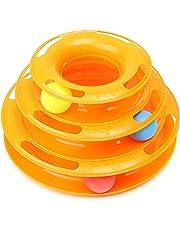 FOCUSPET Jeux Labyrinthe balle Jouet 3 Couches Plastique pour Chat Chien Animaux