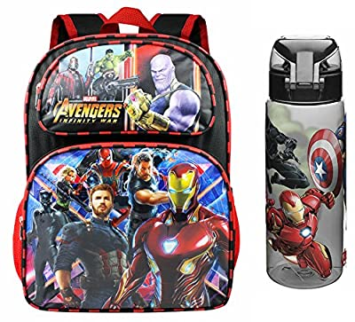 Marvel Avengers Infinity War School Backpack and Waterbottle