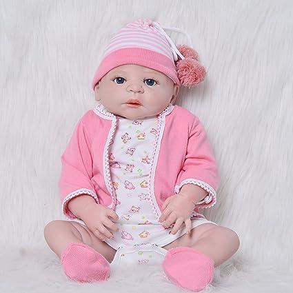 2018 New Reborn Baby Dolls 23 57 Cm Full Silicone Vinyl Realistic Babies