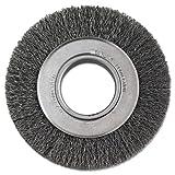Crimped-Wire Wheel, 6'' dia, 1 1/8'' Trim, .0118 Wire, 2'' Arbor