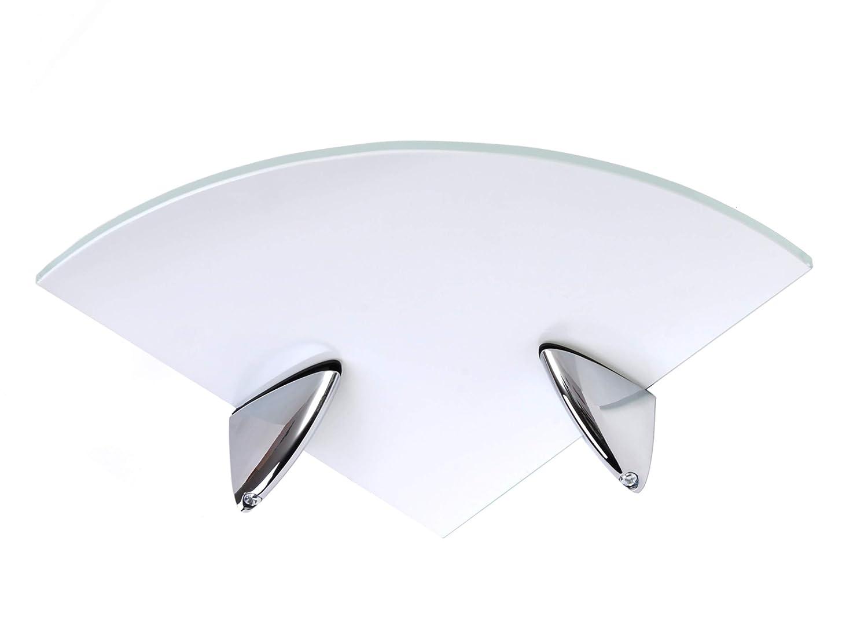 Ripiani ad angolo in vetro temprato 250 mm ufficio bianco o trasparente spessore 6 mm per bagno cucina con grande finitura cromata camera da letto colore: nero