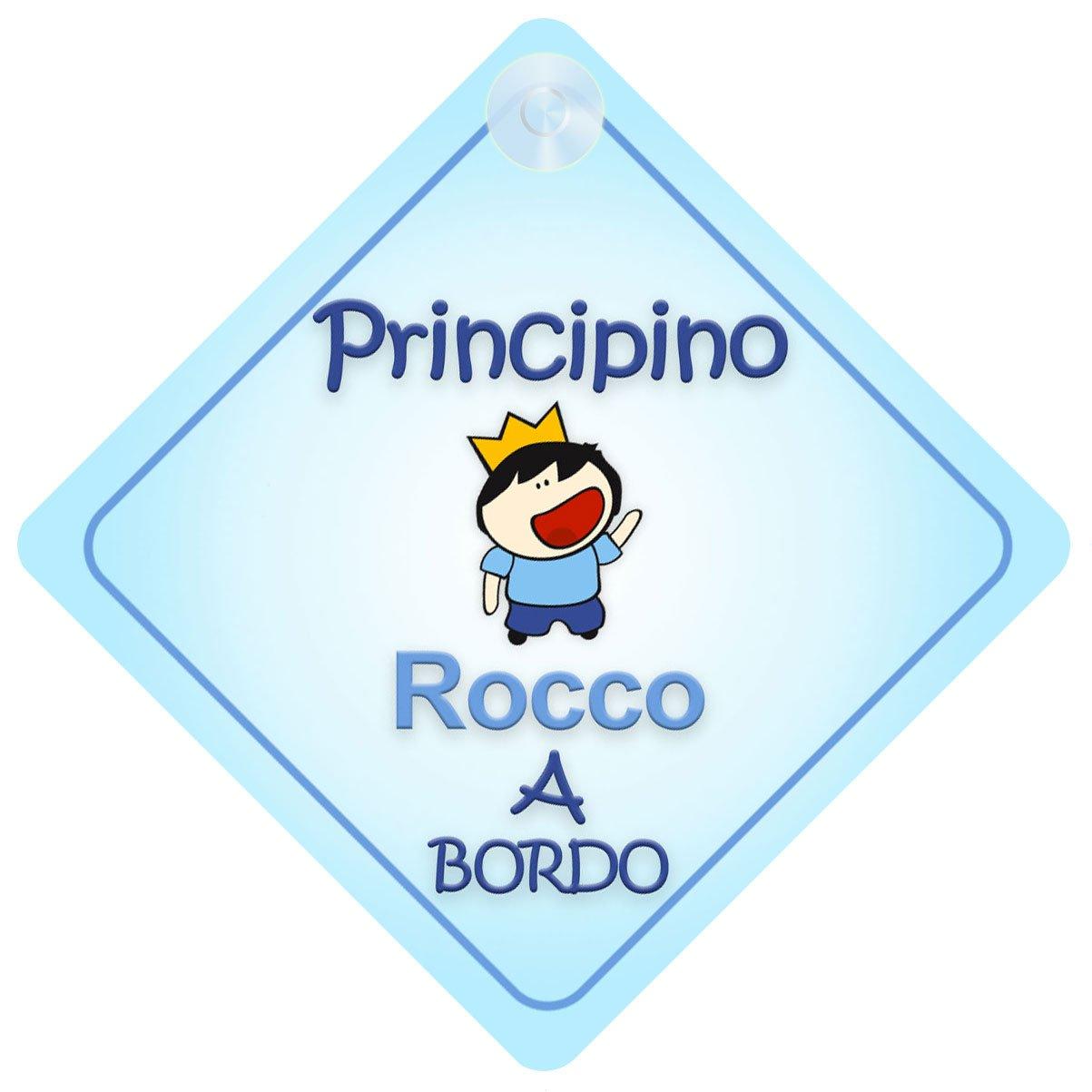 Principino Rocco bambino principino adesivo macchina neonato a bordo per maschi principe adesivo bimbo