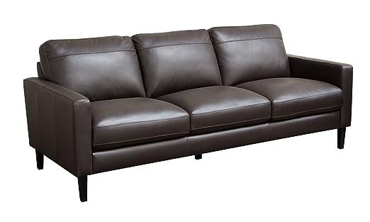Amazon.com: Diamond Sofa Omega Full Leather Sofa in Dark ...
