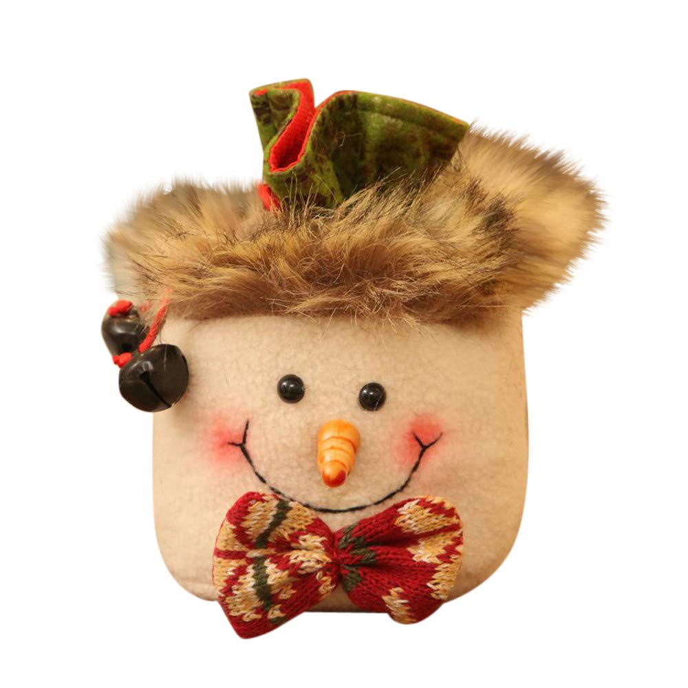 Christmas Decoration IEason Christmas Candy Party Gift Bag Decorations Xmas Storage Packing Wrapper Supplies (C)