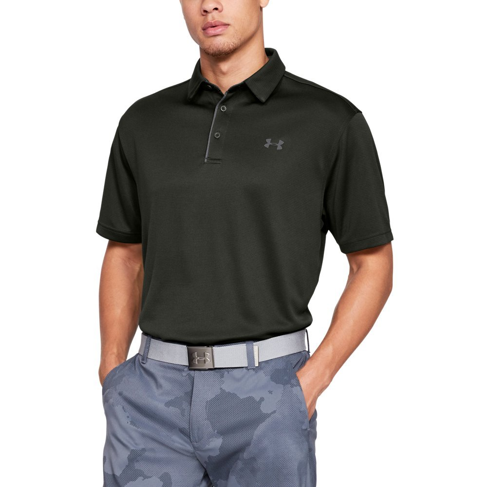Under Armour Men's Tech Polo, Artillery Green (357)/Graphite, Small
