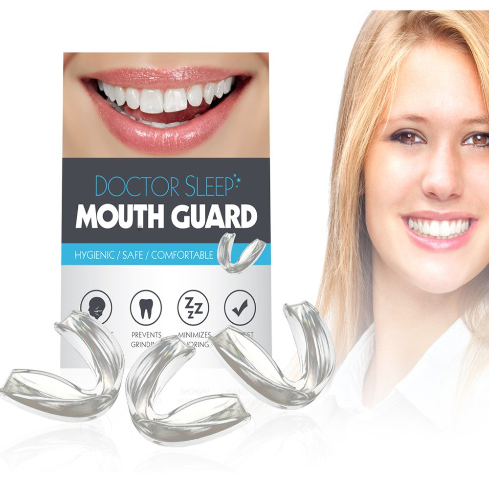 Mouth Guard for Grinding Teeth - Night Guard for Clenching - Eliminates TMJ and Bruxism! Includes Three Custom Fit Professional Dental Guards by Alayna