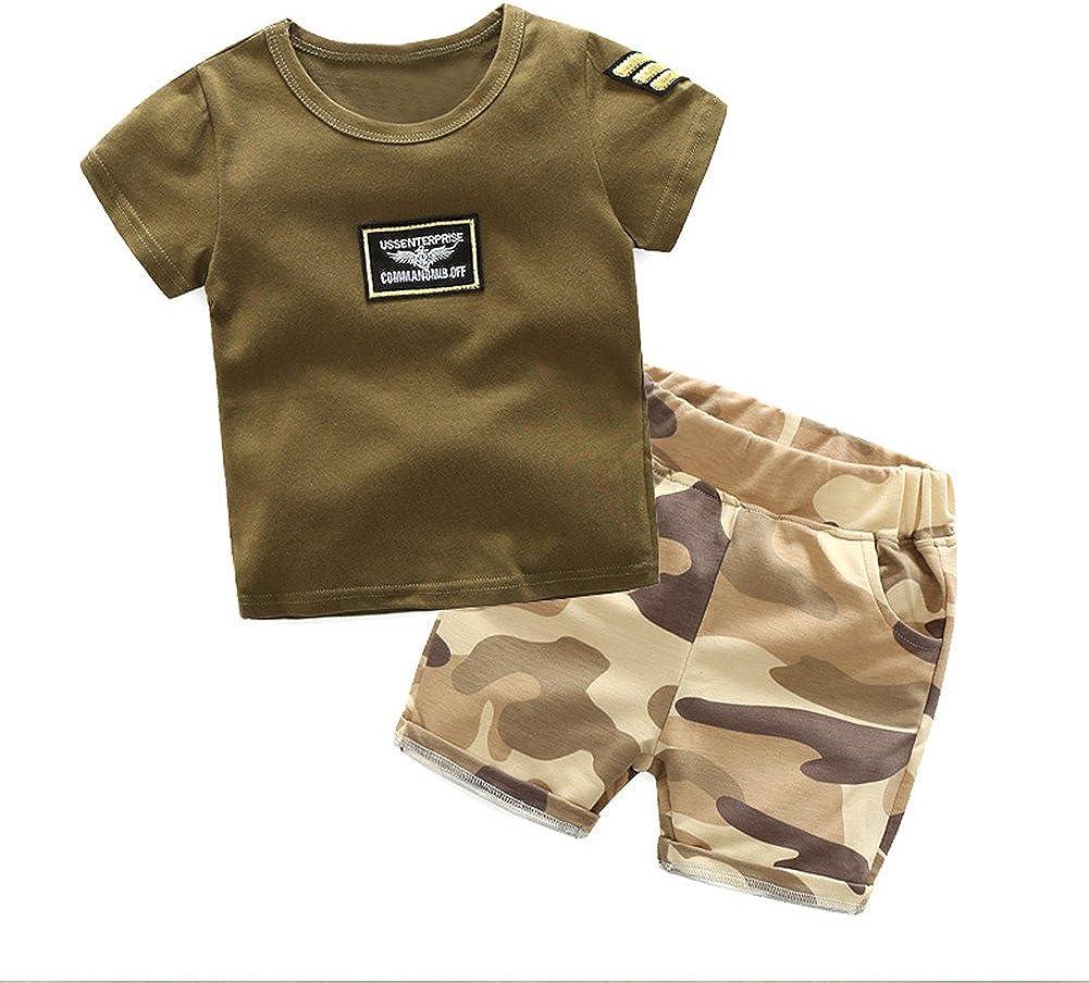 Mud Kingdom Little Boys Camo Shorts Sets