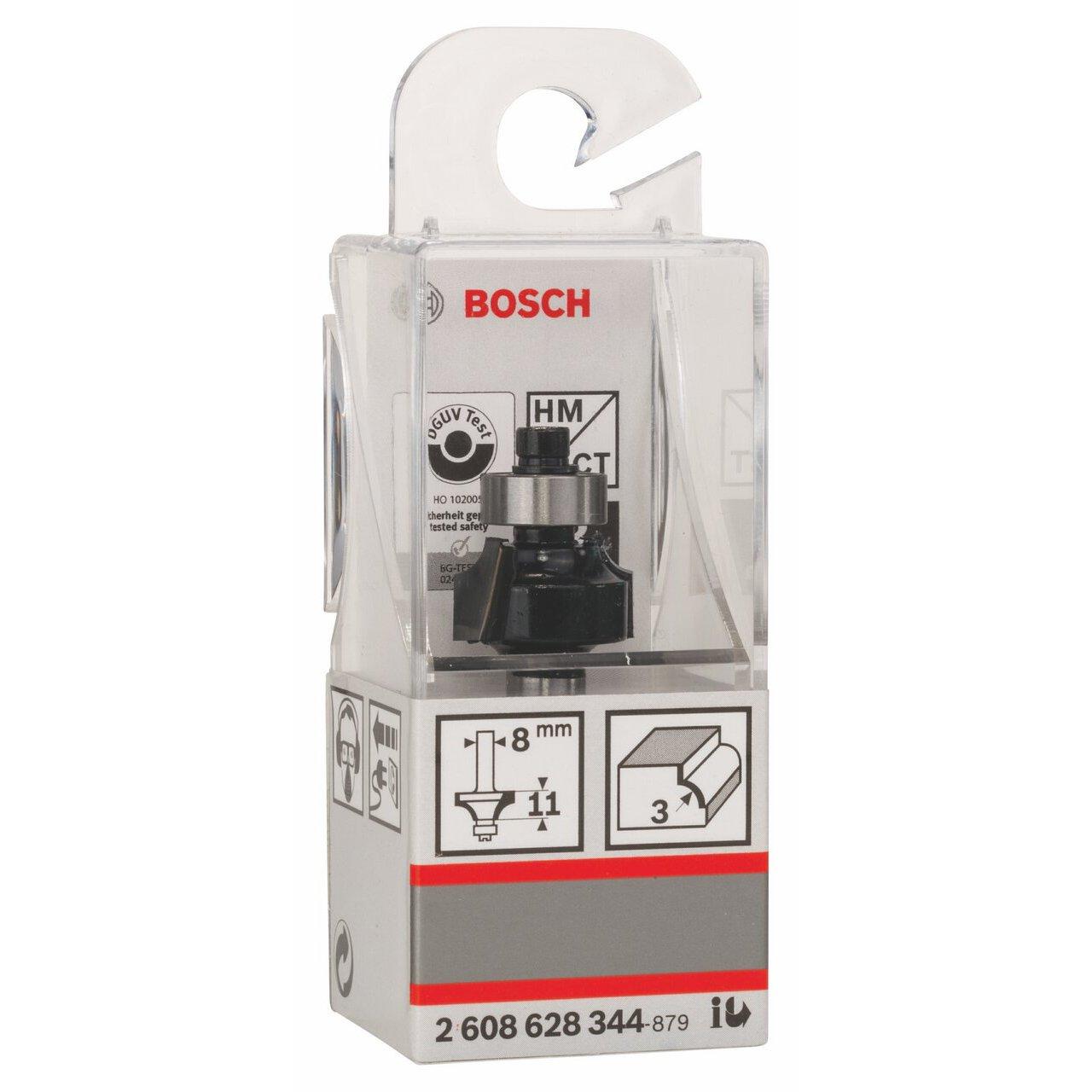 8 x 18.7 x 53 mm Silver Bosch 2608628344 Rounding Router Bit