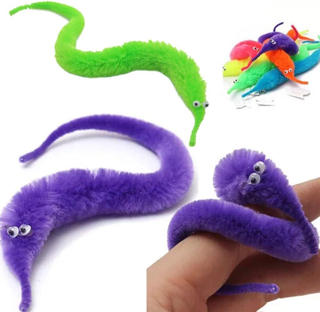 Wackeln Winklig Flaumig Wurm Spielzeug Karneval Party 6PCs SINGOing 6 St/ück Magic Worm magischer Wurm Zauberwurm Zaubern Kindergeburtstag