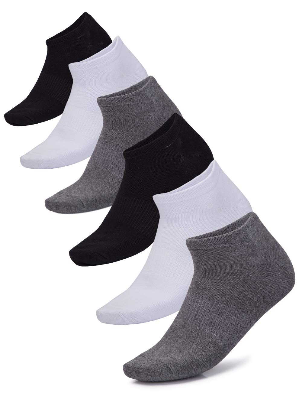 CAMEL Mens Ankle Socks Crew Low Cut Moisture Wicking Breathable Comfort Cotton Casual Work Athletic Socks 6 Pairs