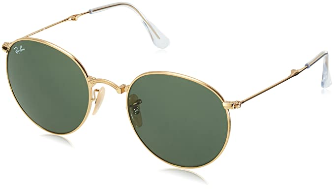 bbbd5c6752 Amazon.com  Ray-Ban Mens Round Folding 0RB3532 Round Sunglasses  Clothing
