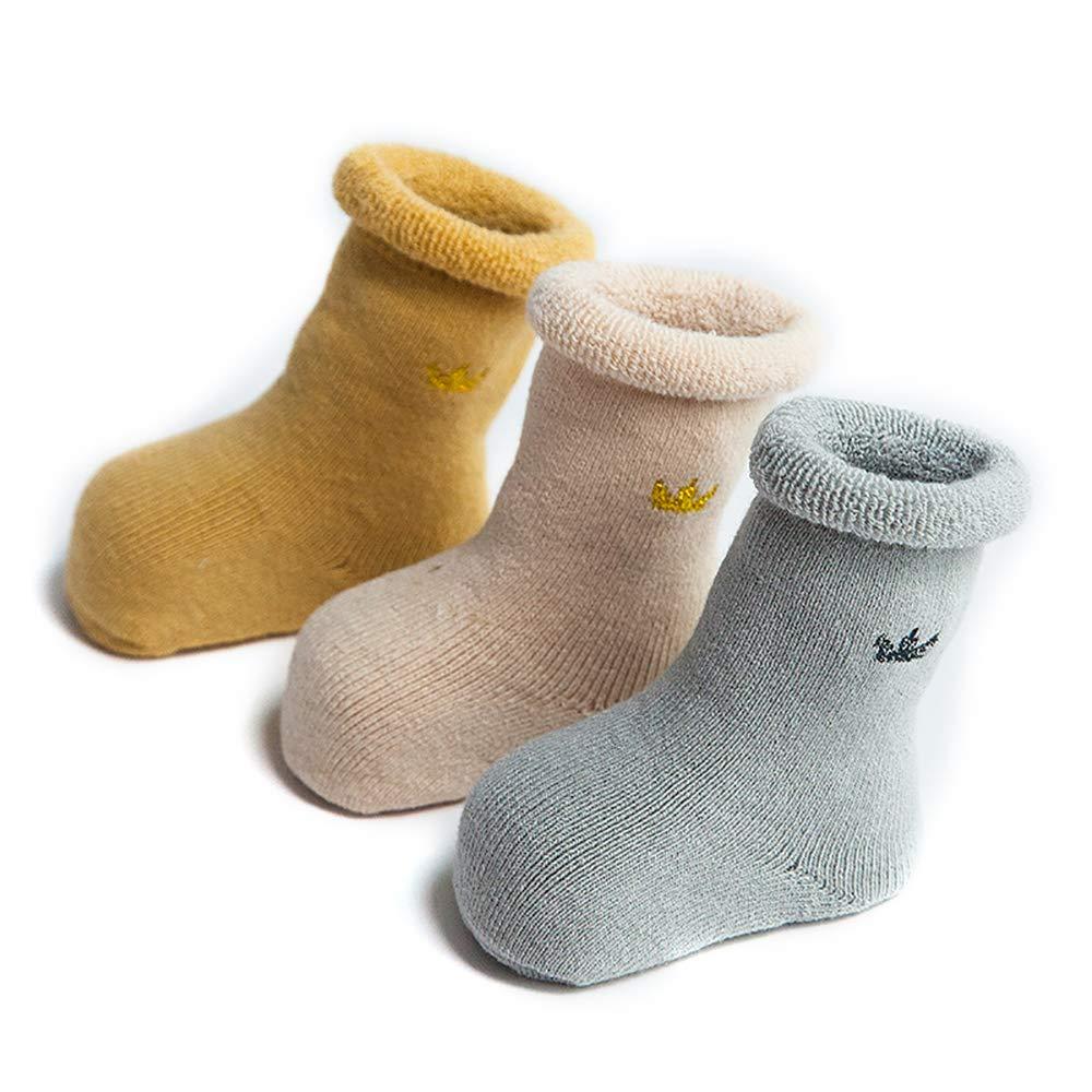 SuYoYo Baby Non-skid Thick Winter Socks Toddler Boys Girls Socks