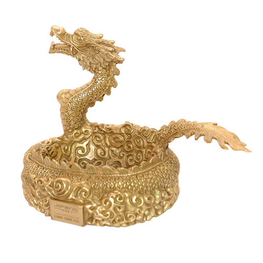 LSS Retro Creative Personality High-End Pipe Display Stand, Flying Dragon Brass Pipe Rack, One-Piece Molding, Brass Smoking Pipe Display Stand by LSS