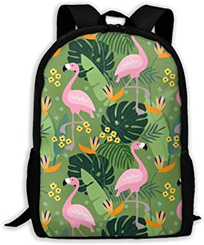 Nylon Flamingo Handbags Teen Girl High School Bag Travel Backpack