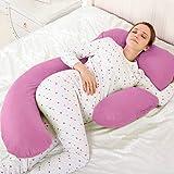 Novo 3Kg Pp Cotton Content Pillow, Pink - 145X80X25Cm, Free Size
