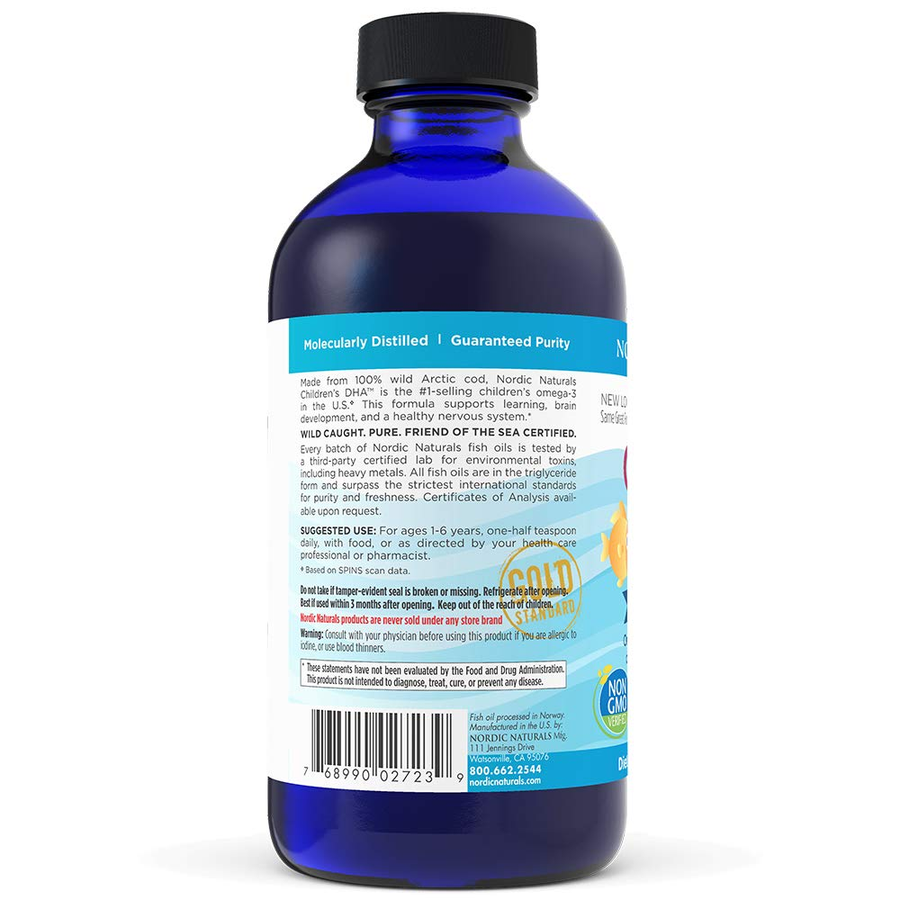 Nordic Naturals - Childrens DHA, Healthy Cognitive Development and Immune Function, 8 Fl Oz