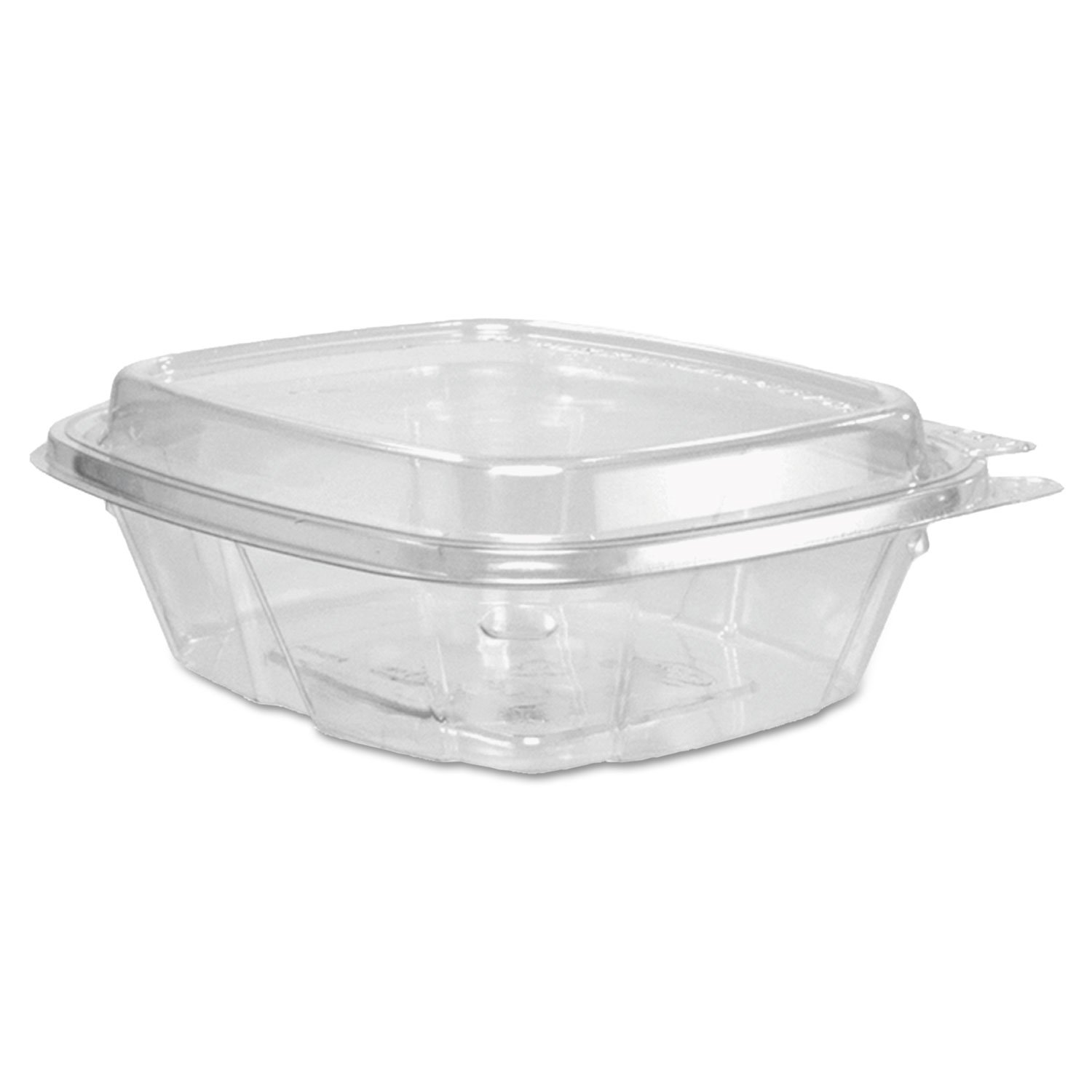 Dart CH8DED 8 oz Tamper-Resistant Clear Hinged Container with Dome Lid (Case of 200)