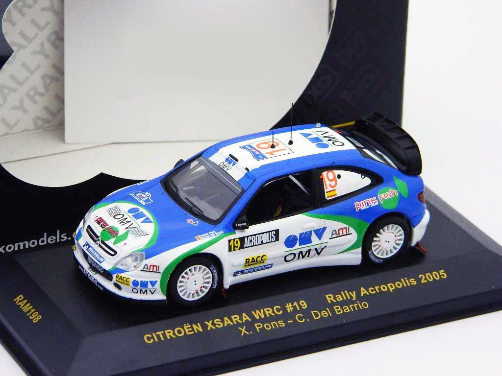 Ixo – Miniatur Auto Citroen Xsara Xsara Xsara WRC Rally Akropolis 2005 Maßstab 1/43, ram198, Blau/weiß 7f107f