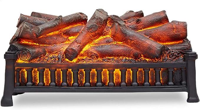 Electric Fireplace Heater Chemin/ée Autoportante Radiateur Chaleureux avec Chauffage Et Effet Feu De Chemin/ée 3D Et Protection Contre La Surchauffe Foyer /électrique ANYWN Chemin/ée /électrique