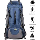 ONEPACK 50L(45+5)Hiking Backpack Waterproof Backpacking Bag Outdoor Sport Daypack for Climbing Mountaineering Camping Fishing Travel Cycling Skiing with Rain Cover