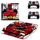 MightyStickers® PS4 Wrap Skin Game Console + 2 Controller Decal Vinyl Protective Covers Stickers Sony PlayStation 4 Marvel Comics Super Heroes Deadpool Red Mask Man Kills Bad Smart Great Ass Rogue #7