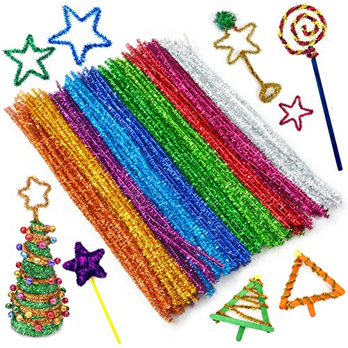 """BigOtters Pipe Cleaners, 200PCS Multicolor Chenille Stems for DIY Art, 6 mm x 12"""""""
