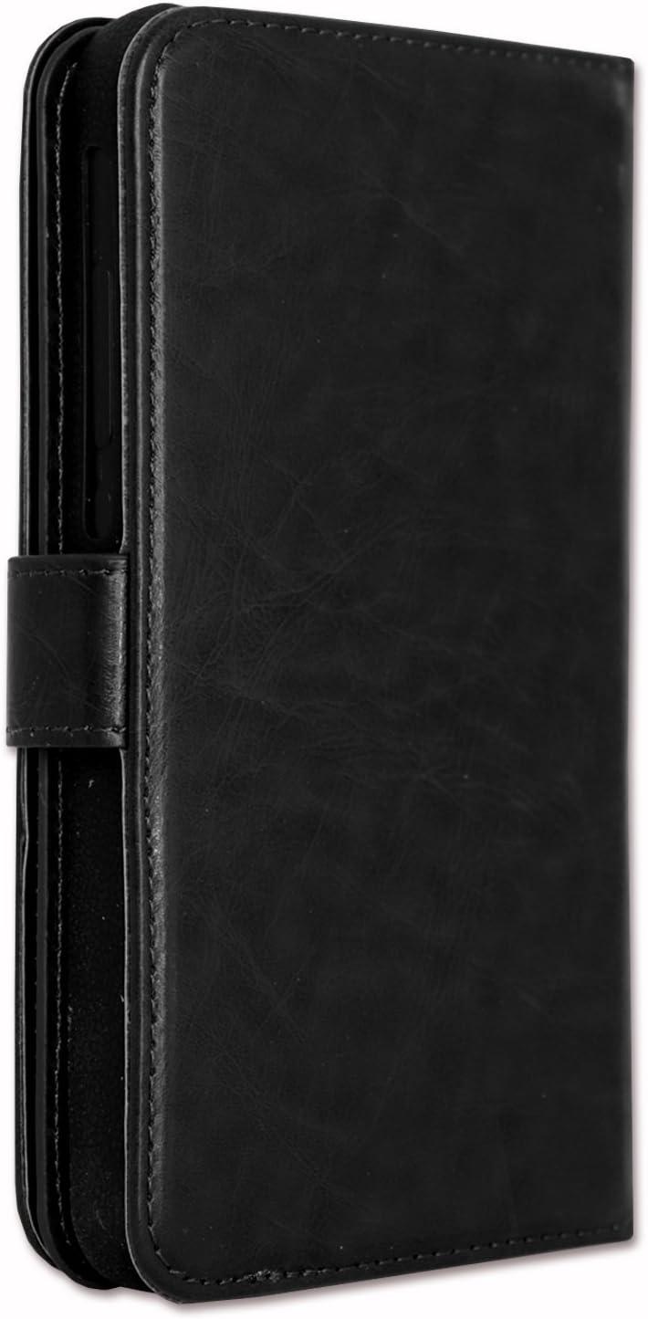 PH26/® Etui housse folio pour ARCHOS 60 Platinum format portefeuille en /éco-cuir bleu avec double clapet int/érieur porte cartes fermeture magn/étique et surpiqures apparentes