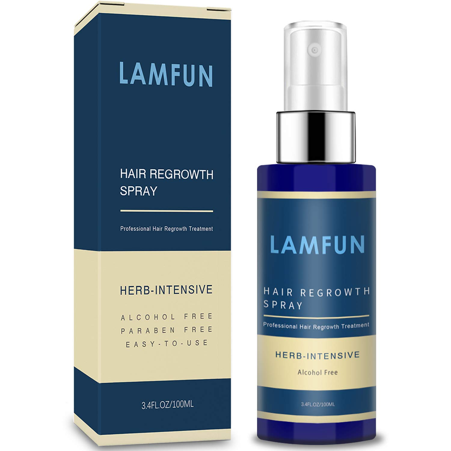 Amazon Com Hair Growth Spray Lamfun Professional Hair Loss Treatment 5 Minoxidil Solution For Hair Loss Thinning Regrowth And Balding Topical Treatment For Men And Women Alcohol Free And Non Oily 100ml