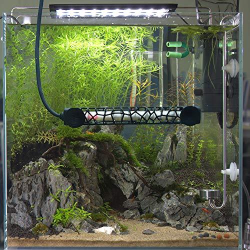 Hygger Submersible Aquarium Heater, Adjustable Fish Tank Heater Compact Reliable Betta Heater, Heat-Resistant Milky Quartz Made, with External Temp Controller, 50W/100W/300W, 7-60 Gallon (100W)