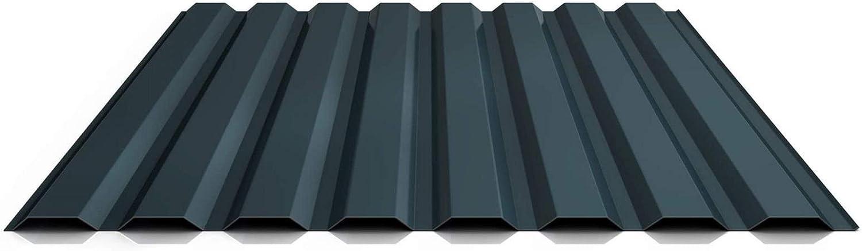 Wandblech Profil PS20//1100TW Profilblech Farbe Anthrazitgrau Beschichtung 25 /µm Material Stahl Trapezblech St/ärke 0,50 mm