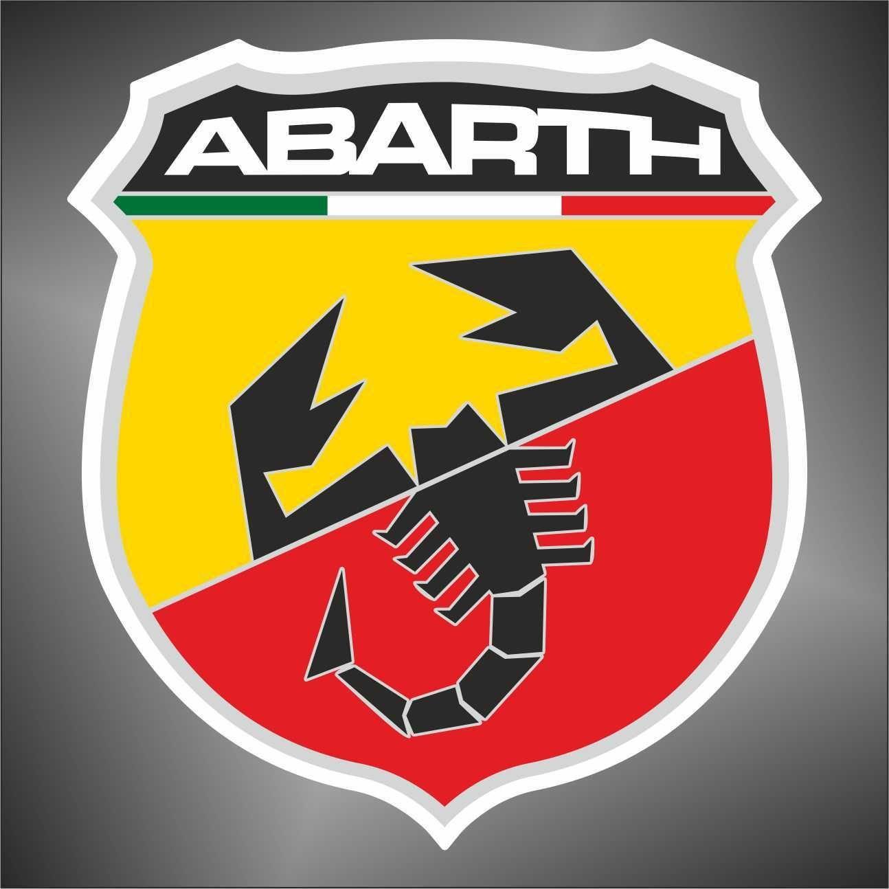 Adesivo Abarth auto rally formula 1 sticker