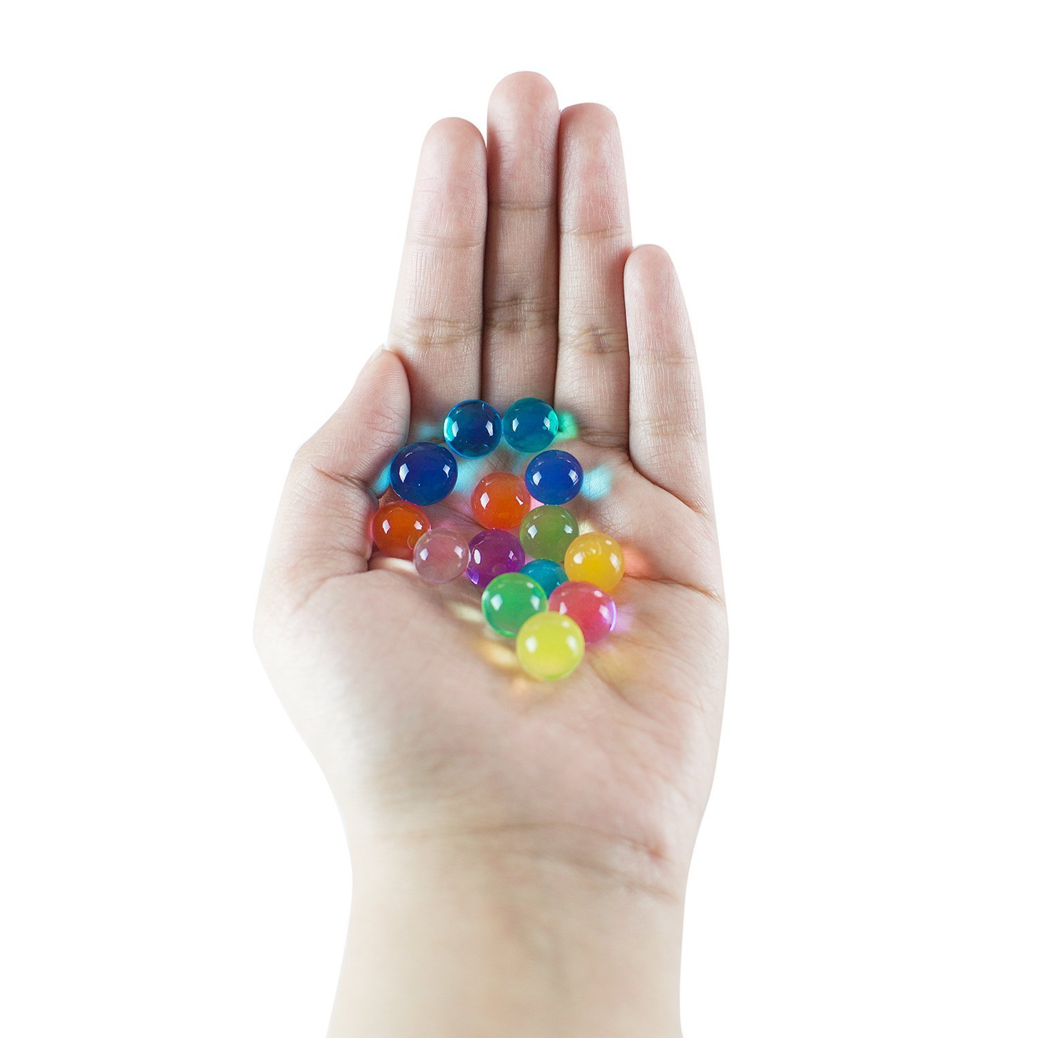8 oz Bag, Makes 6 Gallons Super Z Outlet Rainbow Color Mix Sensory Toys Water Gel Pearls Mini Balls Beads for Children Home Decoration