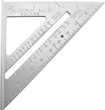 Speed Square 7-Inch Aluminum Rafter Carpenter Triangle 2Pcs Woodworking Pen