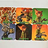 Zootopia Refrigerator Magnets, 6 Disney Movies Fridge Set, Nick Wilde Judy Hopps