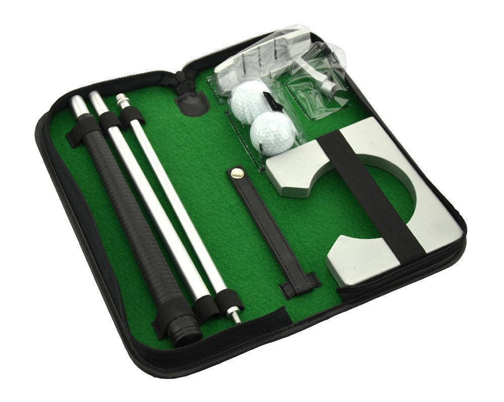 POSMA PG020 Portable Golf Putter Putting Gift Set Kit with Putter, 2pcs Balls, Putting Cup for Indoor outdoor Training Practice