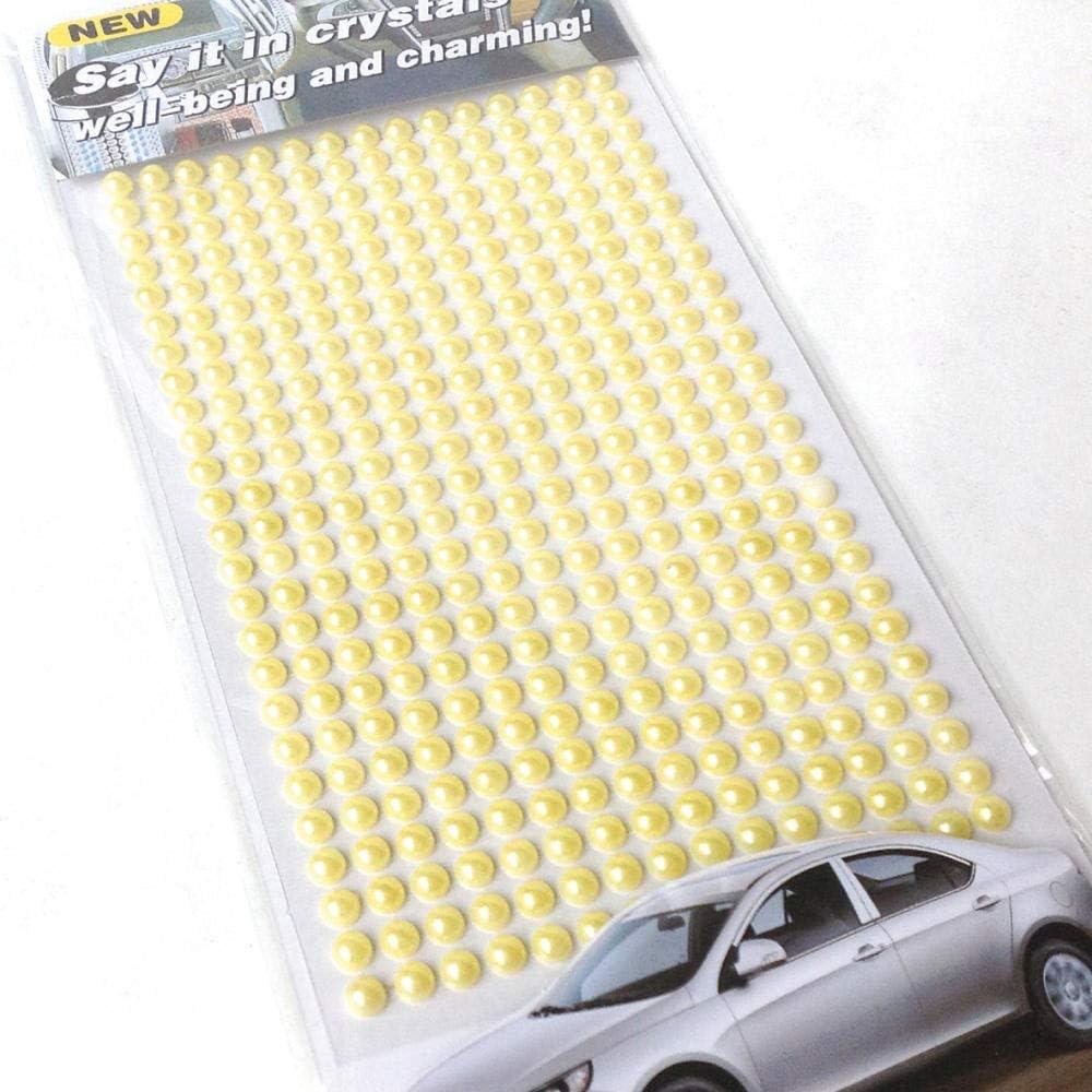 10 coches palo taladro rhinestone coche pegatinas rosa amarilla cristal diamante perla piedra preciosa