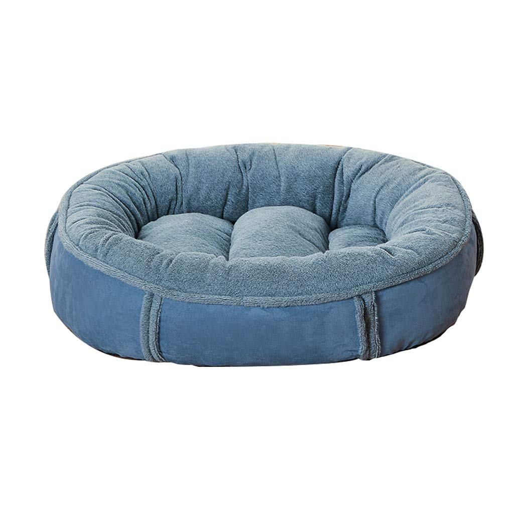 bluee S 604516cm bluee S 604516cm LITING Kennel Removable And Washable Small Dog Mat golden Hair Large Medium-sized Dog Cat Litter Four Seasons Pet Nest (color   bluee, Size   S 60  45  16cm)
