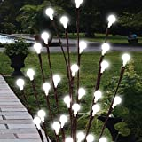 Garden mile 4Pc Solar powered Branch Twig tree with LED Berry Lights Perfect For Borders Flower beds and pathways with Flexible Wire Branches And 20 Acrylic Berries each with a bright White LED Light.
