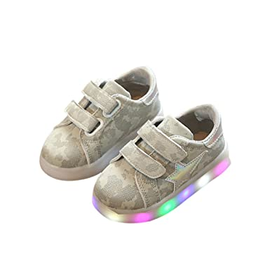 Amazon Com Lighted Led Children Shoes Fashion Baby Kids Sneakers