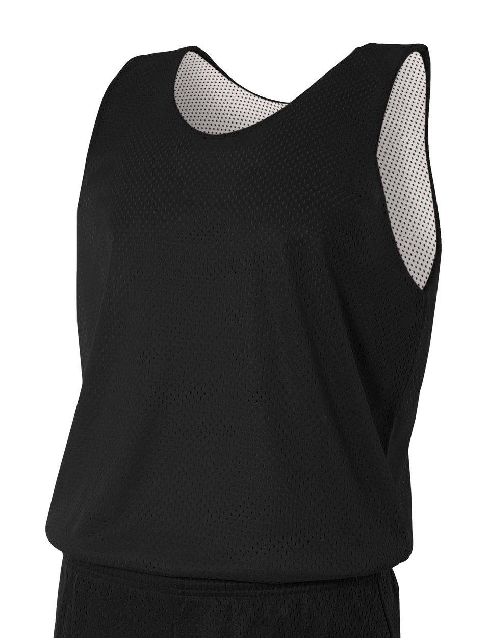 A4 N2206-BLW Reversible Mesh Tank Top, Small, Black/White