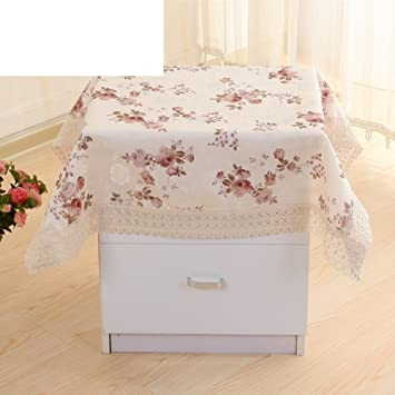 Cotton Padded Fabric/ Bedside Table Cover/ Microwave Dust Cover/Small Round  Table Covered