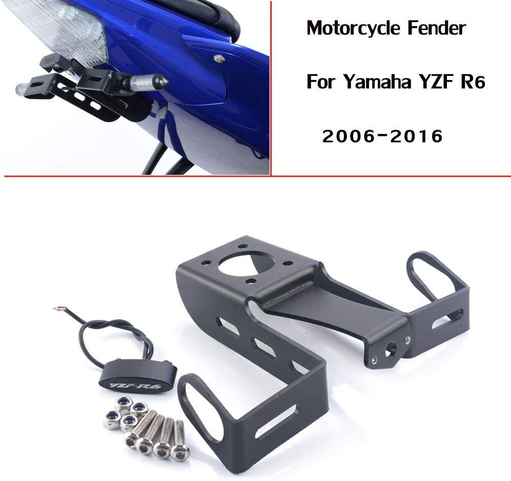 License Plate Holder Motorcycle Accessories Tail Tidy Fender Eliminator License Plate Bracket For Yamaha YZF R6 2006-2016 2014 2015