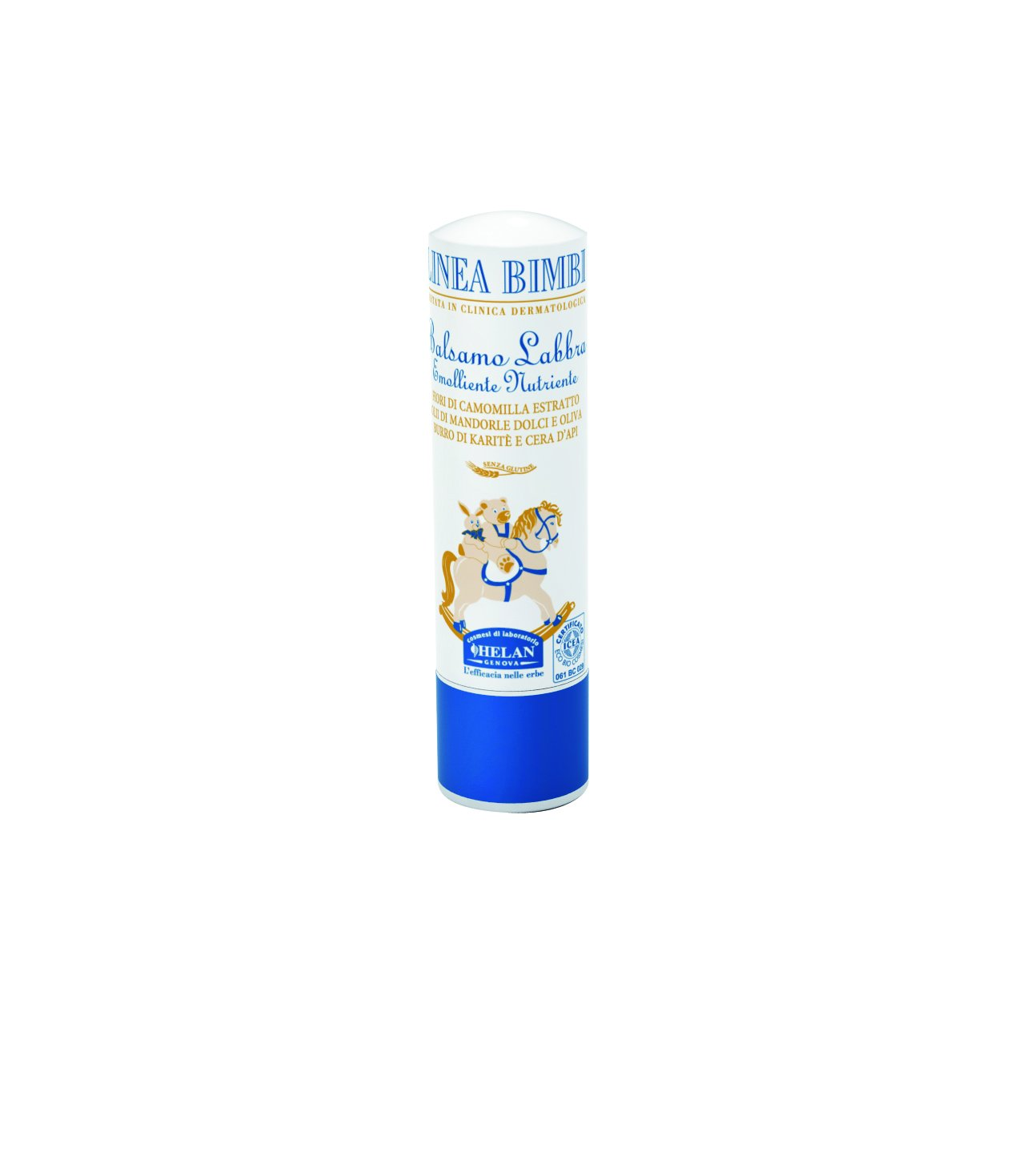 Linea Bimbi Baby Lip Balm for Cracked Chapped Lips Certified Organic, Paraben PEG SLS Free 4.5ml Helan