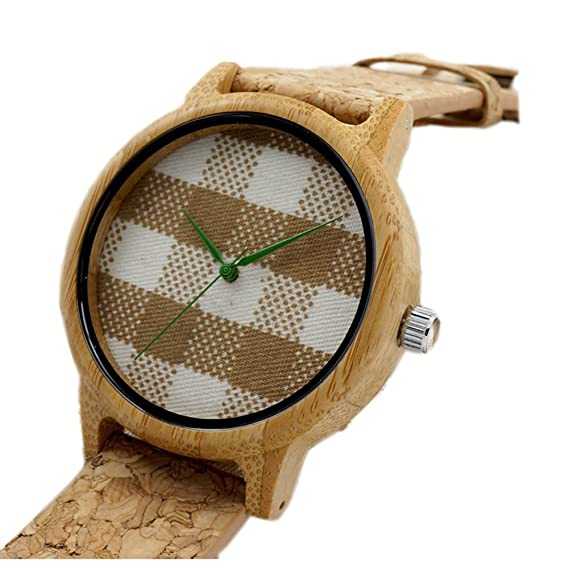 Personalizado grabado madera Unisex relojes de cuarzo elegante bambú reloj pulsera regalo para Groomsmen para caballero en mujer: Amazon.es: Relojes