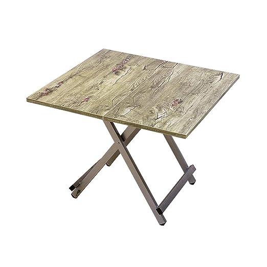 QZ HOME Mesa Plegable Mesa De Comedor Simple Práctico Exterior ...