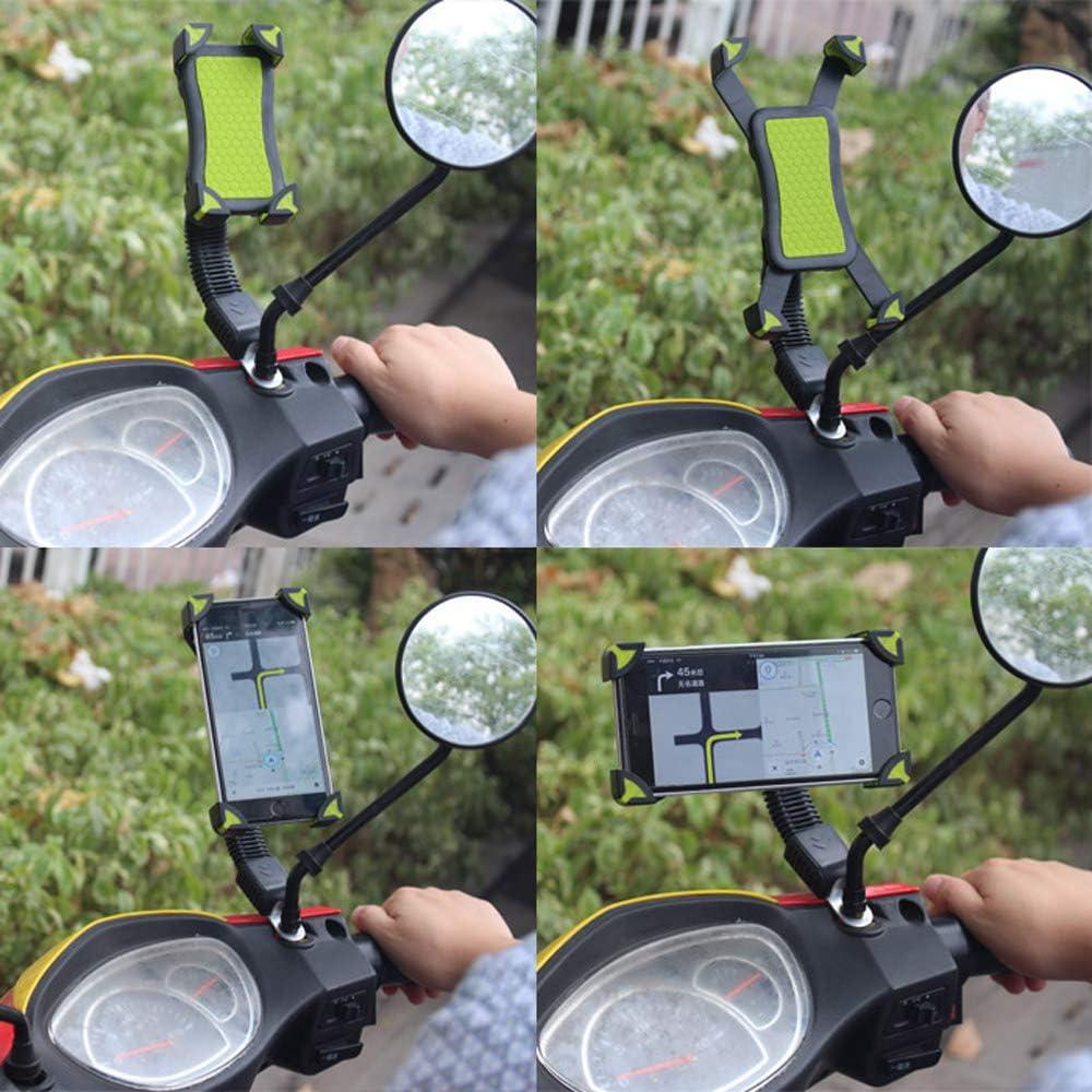Soporte Universal para m/óvil para Motocicleta con Espejo retrovisor Giratorio 360/°.